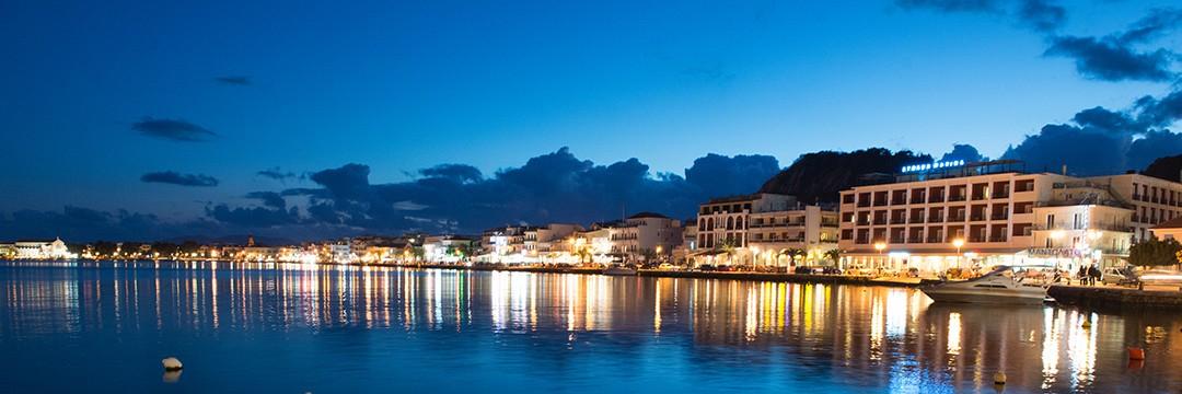 Zakynthos Port by Night